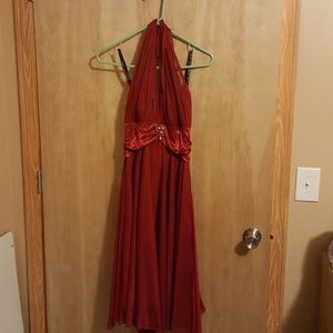 David's Bridal Homecoming gown